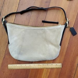 COACH Authentic Suede and Leather Hobo Bag